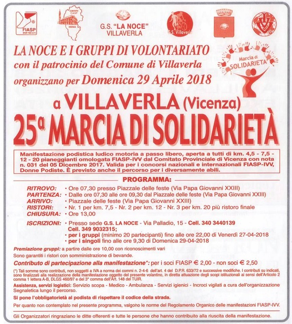 Calendario Marce Fiasp Vicenza 2019.Comune Di Villaverla Vivere Dettaglio Myp